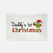 Daddy's 1st Christmas Owl Rectangle Magnet (10 pac