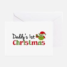 Daddy's 1st Christmas Owl Greeting Cards (Pk of 10