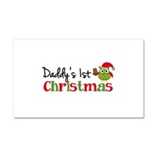 Daddy's 1st Christmas Owl Car Magnet 20 x 12