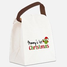 Mommy's 1st Christmas Owl Canvas Lunch Bag