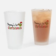 Mommy's 1st Christmas Owl Drinking Glass