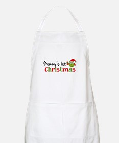 Mommy's 1st Christmas Owl Apron