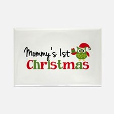 Mommy's 1st Christmas Owl Rectangle Magnet (10 pac
