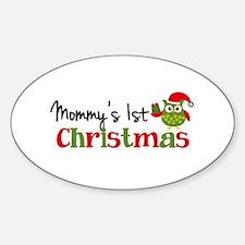 Mommy's 1st Christmas Owl Decal