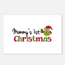 Mommy's 1st Christmas Owl Postcards (Package of 8)