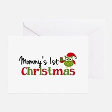 Mommy's 1st Christmas Owl Greeting Card