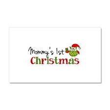 Mommy's 1st Christmas Owl Car Magnet 20 x 12