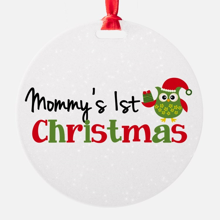 Mommy's 1st Christmas Owl Ornament