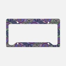 Textured Paisley License Plate Holder