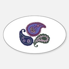 Textured Paisley Sticker (Oval)
