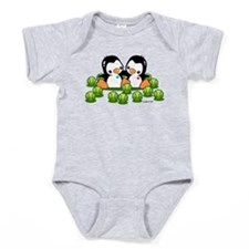 Tennis Penguins Baby Bodysuit