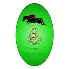 Horse Jumping Christmas Decal