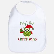 Baby's First Christmas Owl Bib
