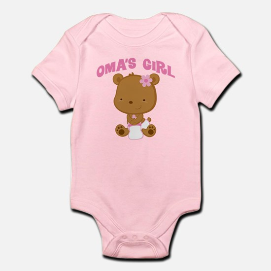 Oma's Girl Teddy Bear Infant Bodysuit