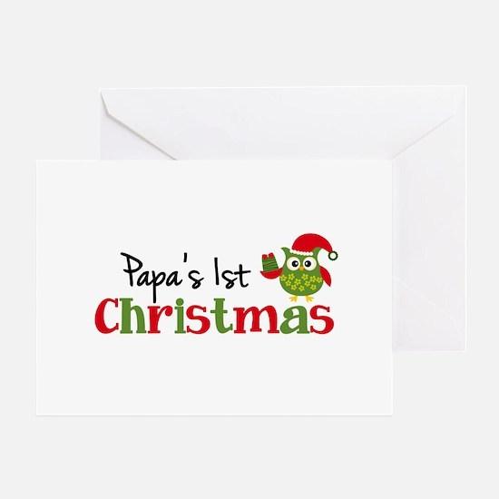 Papa's 1st Christmas Owl Greeting Card