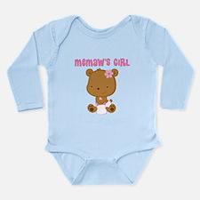 Memaw's Girl Teddy Bear Long Sleeve Infant Bodysui