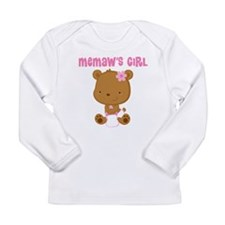 Memaw's Girl Teddy Bear Long Sleeve Infant T-Shirt