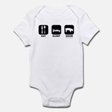 Eat Sleep Show Pigs Infant Bodysuit