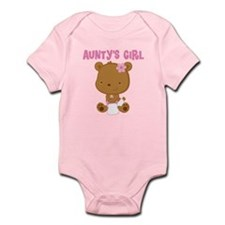 Aunty's Girl Teddy Bear Infant Bodysuit