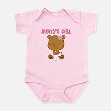 Aunty's Girl Teddy Bear Infant Bodysuit
