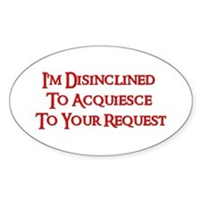 DISINCLINED Oval Decal