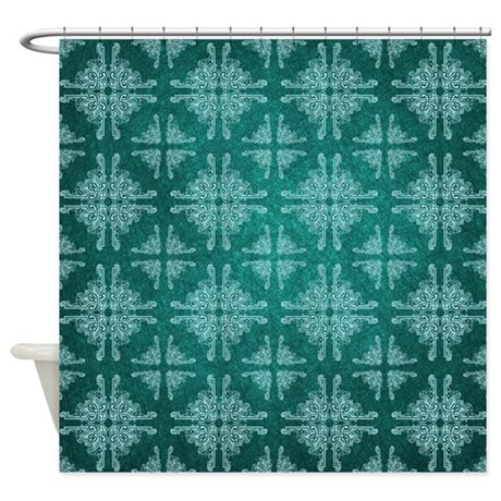 Teal Knot Shower Curtain By Rockinmoroccan