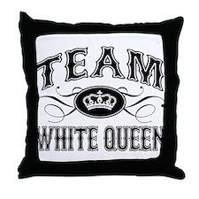 Team White Queen Throw Pillow