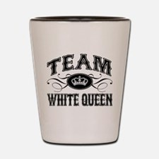 Team White Queen Shot Glass