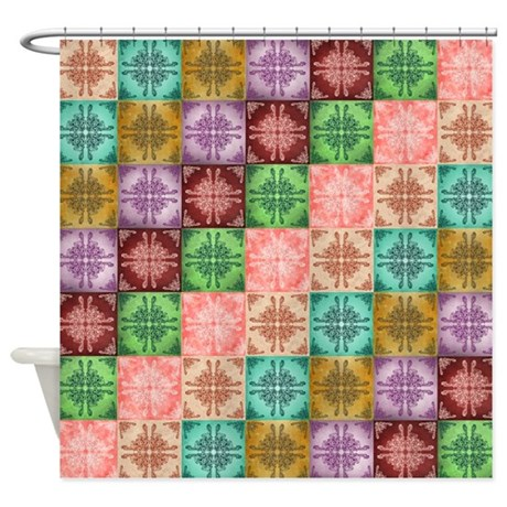 Multi Color Shower Curtain By Rockinmoroccan