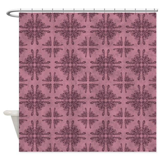 Plum Knot Shower Curtain By Rockinmoroccan
