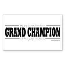 Grand Champion Pig Rectangle Decal