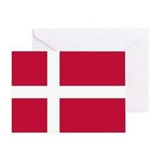 Danish Flag Greeting Cards