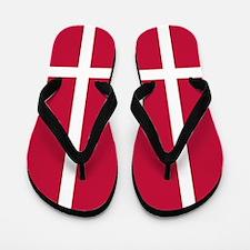 Danish Flag Flip Flops