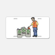 Recycling Trash Cans Aluminum License Plate