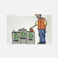 Recycling Trash Cans Magnets