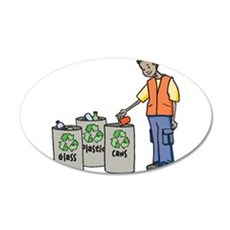 Recycling Trash Cans Wall Decal