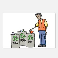 Recycling Trash Cans Postcards (Package of 8)