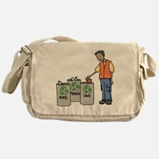 Recycling Trash Cans Messenger Bag