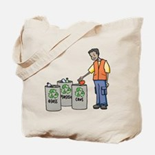 Recycling Trash Cans Tote Bag
