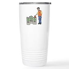 Recycling Trash Cans Travel Mug