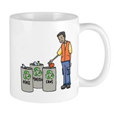 Recycling Trash Cans Mugs