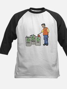 Recycling Trash Cans Baseball Jersey