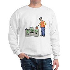 Recycling Trash Cans Sweatshirt