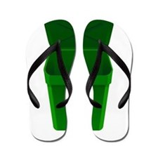 Green Recycling Trash Can Flip Flops