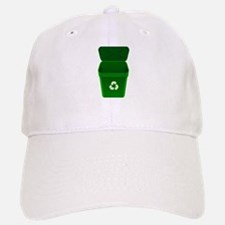 Green Recycling Trash Can Baseball Baseball Baseball Cap