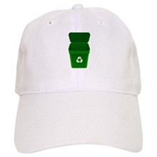 Green Recycling Trash Can Baseball Cap