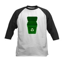 Green Recycling Trash Can Baseball Jersey