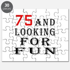 75 and looking for fun birthday designs Puzzle