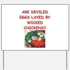 deviled eggs Yard Sign