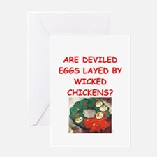deviled eggs Greeting Cards